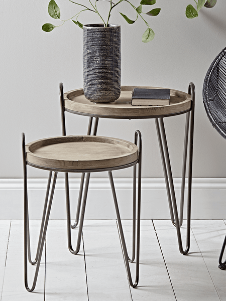 Iron Hairpin Nest of Tables