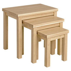 Leicester Natural Wood Nest Of Tables – Set Of 3 – Natural | BUY FROM NEST OF TABLES UK | FREE DELIVERY UK MAINLAND