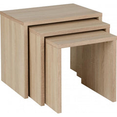 Cranborne Nest Of Tables Set Of 3 Sonoma Oak | Buy From CONSOLE TABLES UK | FREE DELIVERY to Mainland UK