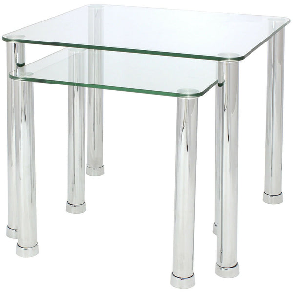 Gilby Clear Glass Nest Of Tables