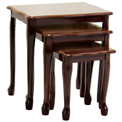 Borinda Mahogany Nest Of Tables | NEST OF TABLES UK