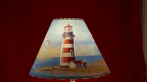 Red Stripe Lighthouse Shade