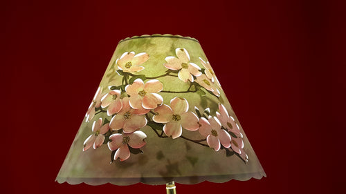 Pink Dogwood Lamp Shade