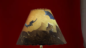 Blue Dragon Lamp Shade
