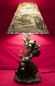 Triple Bear Lamp
