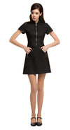 MARMALADE 1960s Style Black Dress with Circle Zipper Pull