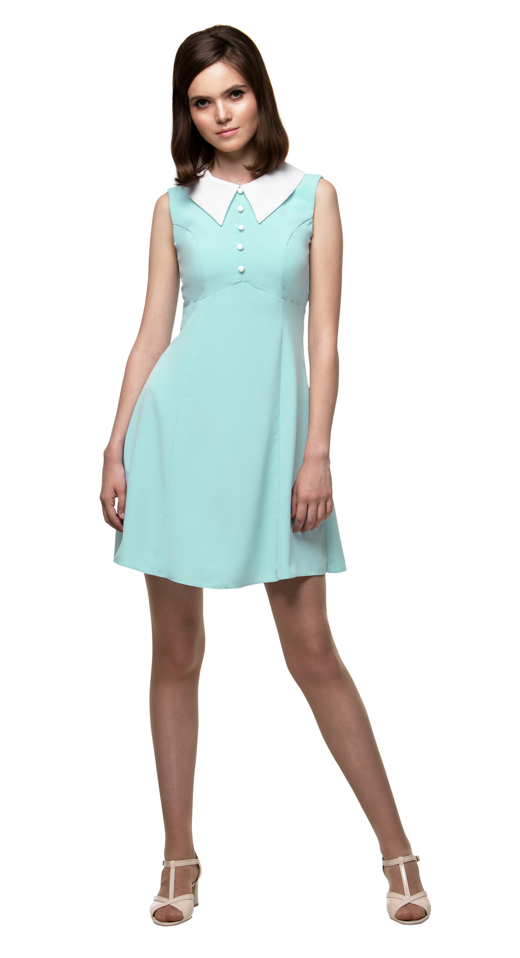 MARMALADE 1960s Style Dress with Collar in Mint Green