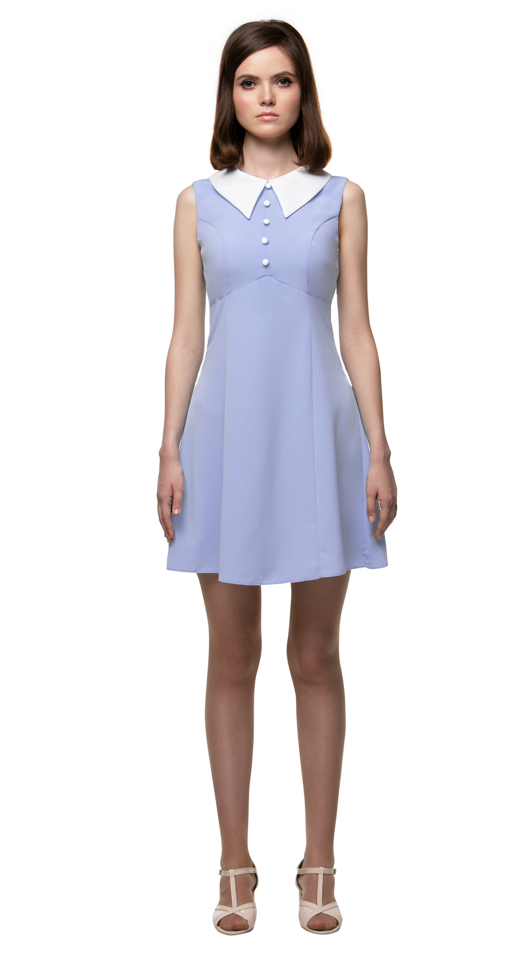 MARMALADE 1960s Style Dress with Collar in Lilac