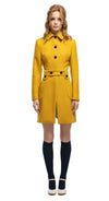 MARMALADE 1960's Style Mustard Coat with Rounded Pockets