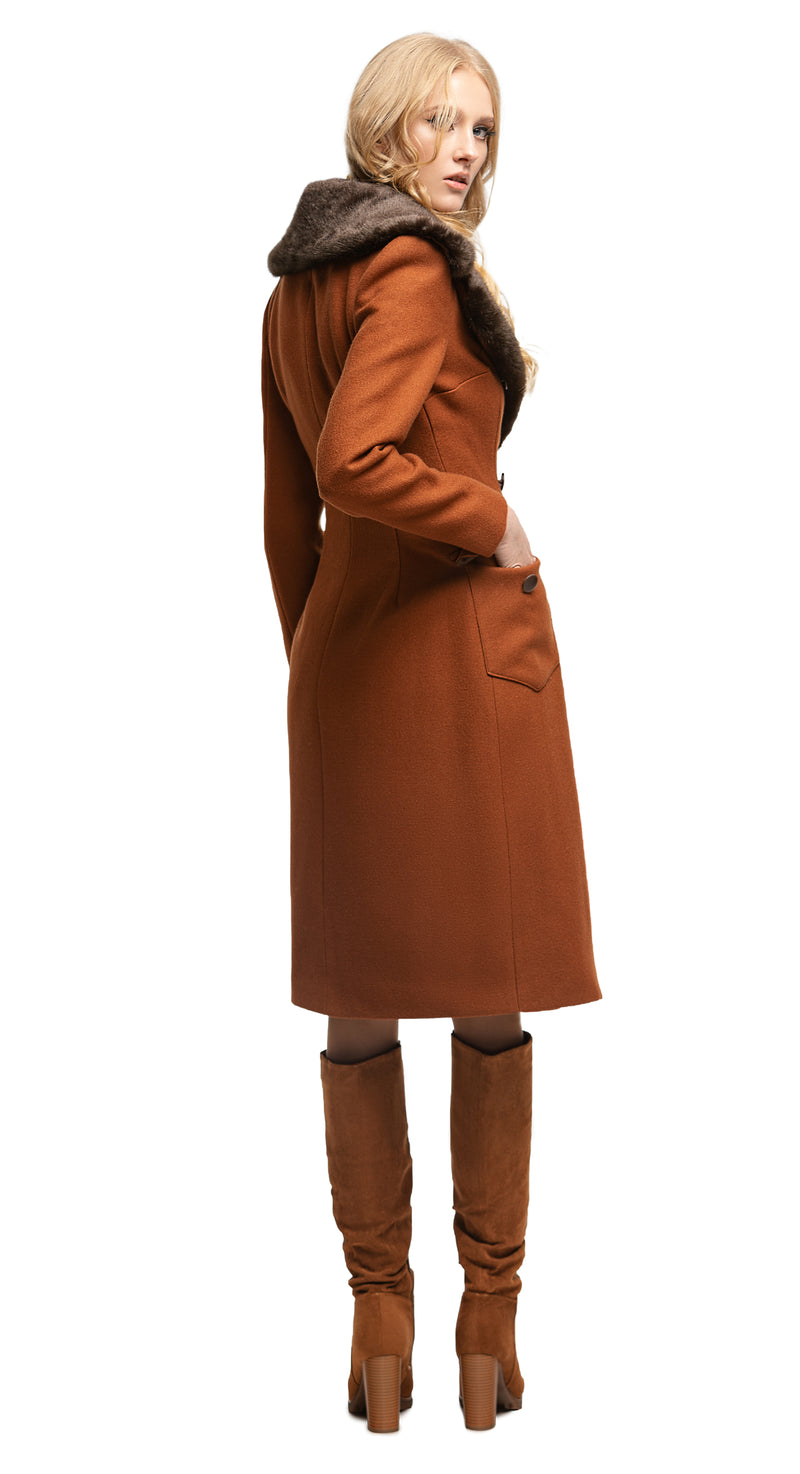 MARMALADE 70s style Brown Coat