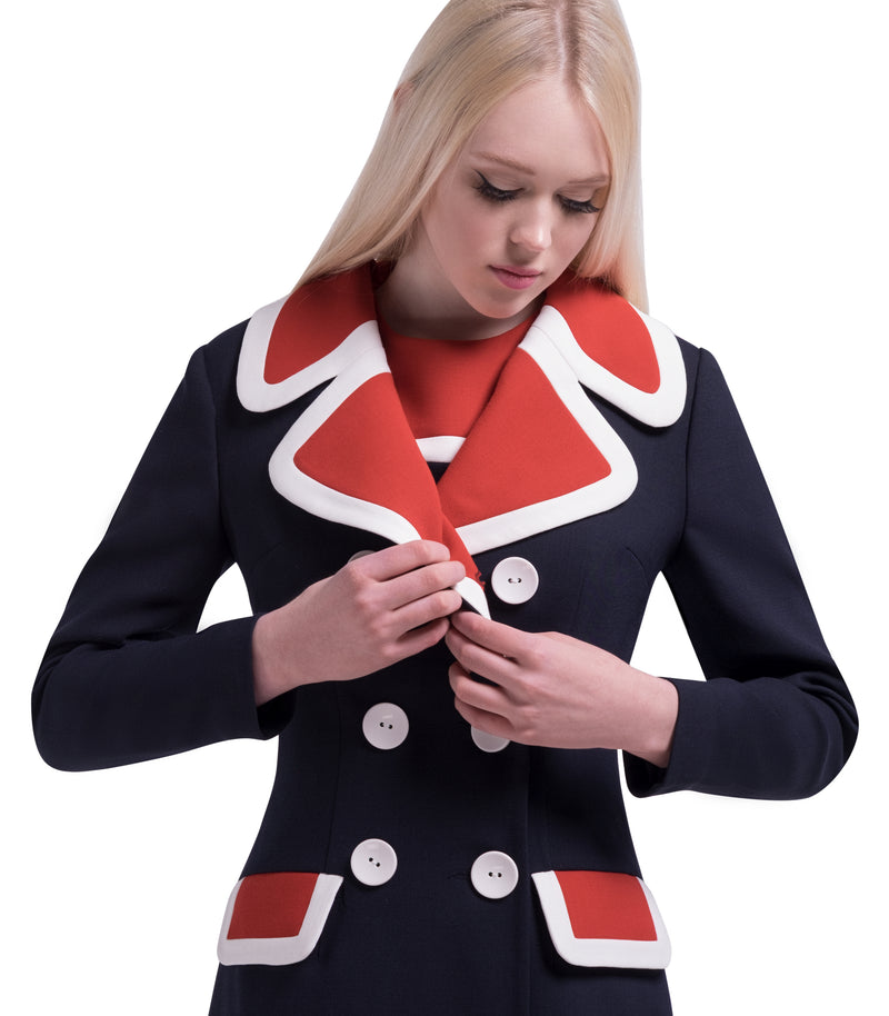 MARMALADE 60s Mod Autumn Double Breasted Coat