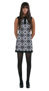FITTED DIAMOND PATTERN DRESS