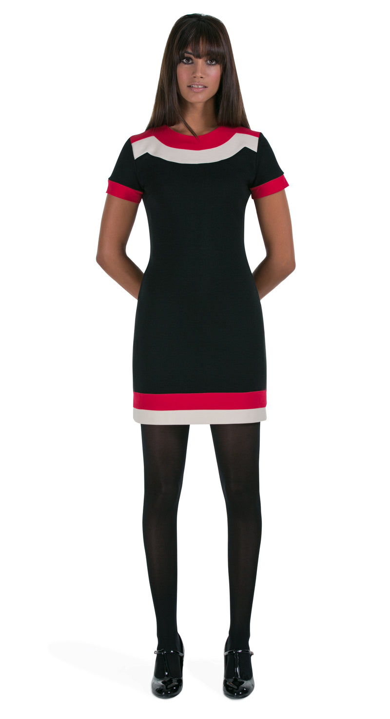 JERSEY DRESS WITH BANDS OF COLOUR