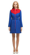 MARMALADE 60s Style Royal Blue/Red Coat