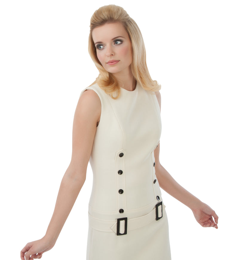 FITTED 2 BUCKLE DRESS