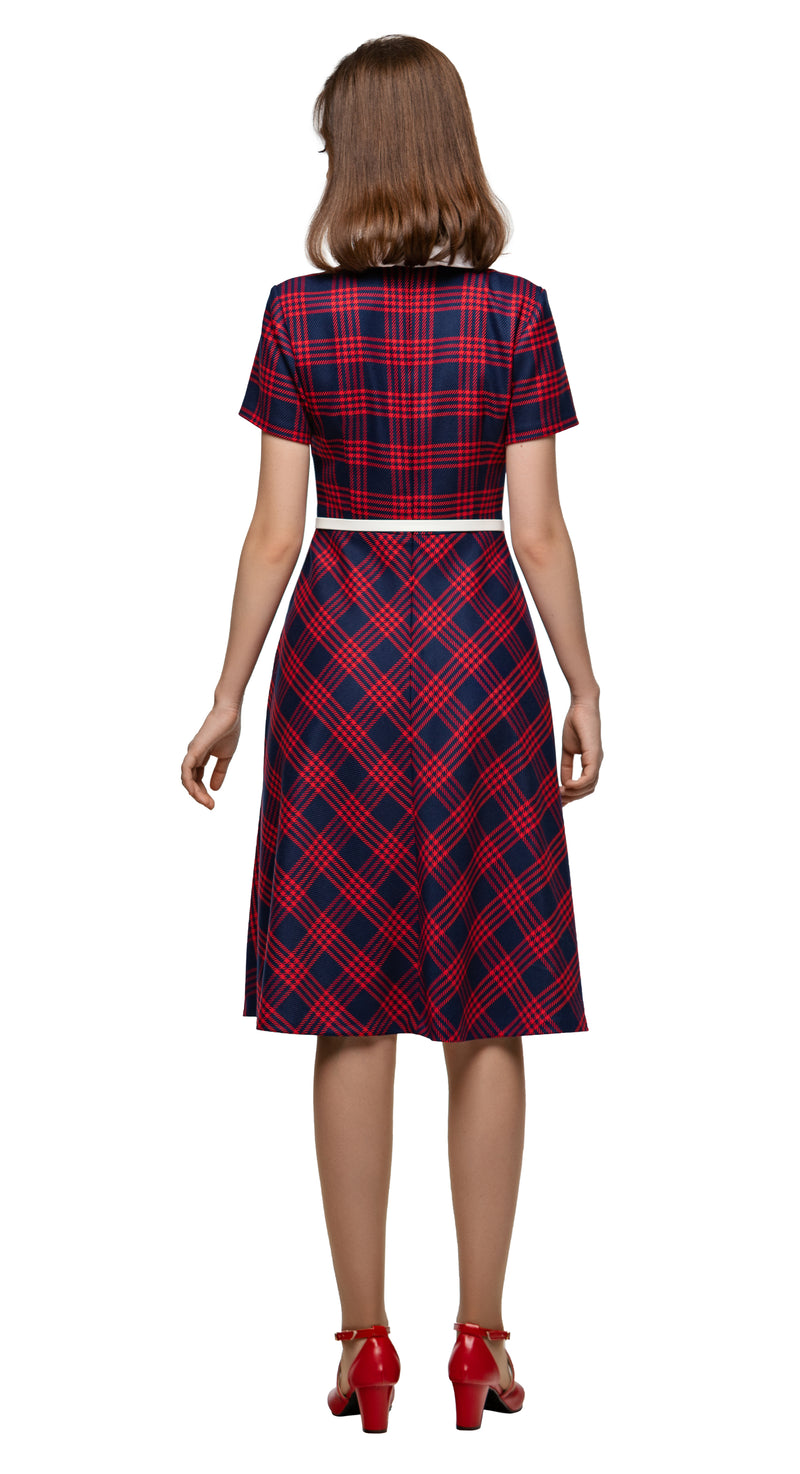 MARMALADE 1950s Style Plaid Retro Dress