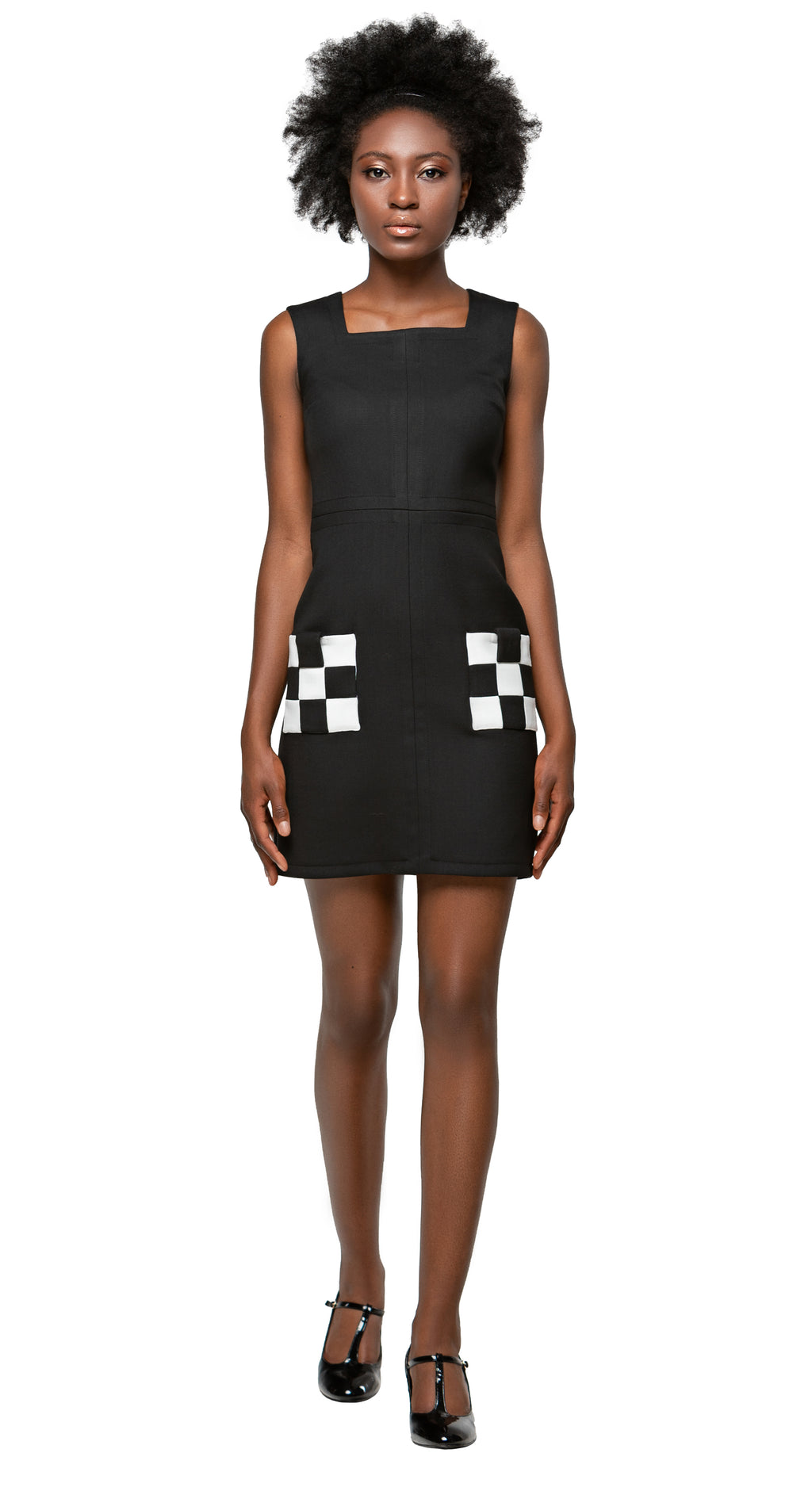 MARMALADE 60s Ska Style Dress with Checkered Pockets