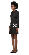 MARMALADE 60s Ska Style Coat with Checkered Pockets