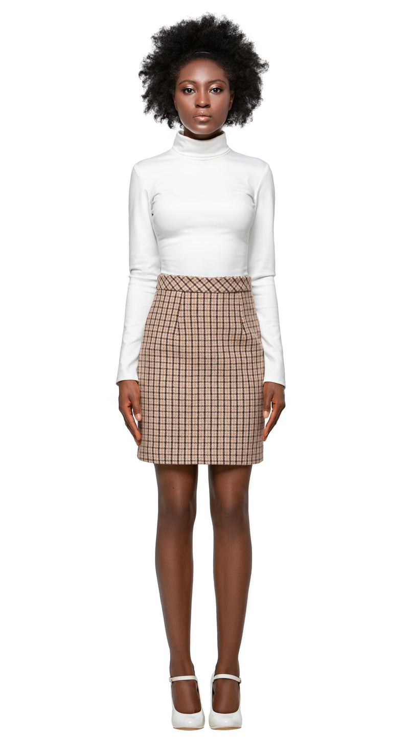 MARMALADE Retro Style Plaid Winter Skirt