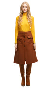 MARMALADE 70s Style Brown Skirt