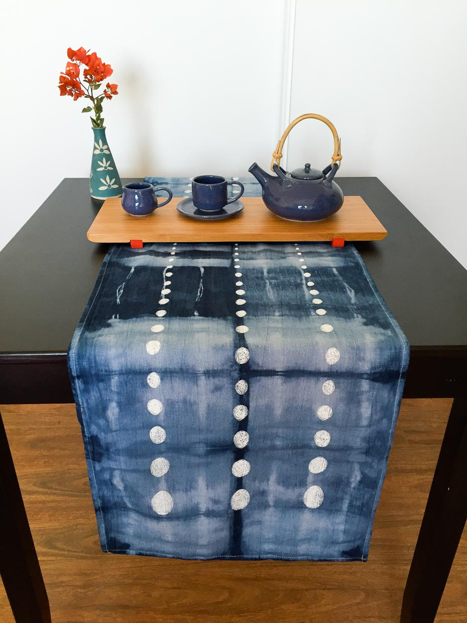 Table Runner: Shibori with Spots