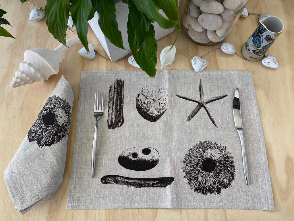 Napkins: Sea Urchin and Driftwood