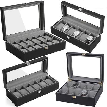 Black Wood Watch Display Case (3 Available Size)