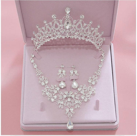 French Teardrop Wishbone Stainless Tiara Set