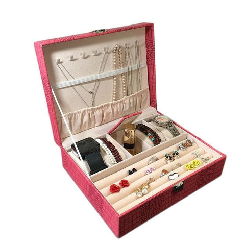 Stylish Big Watch & Jewelry Box Organizer (3 Available Color)