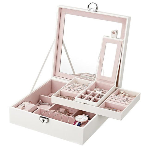 Grand PU Leather Jewelry Display Case (3 Available Colors)