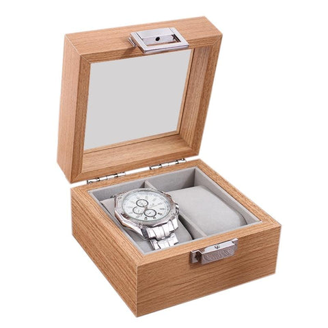 Compact Wood Travel Watch Display Case (2 Available Size)