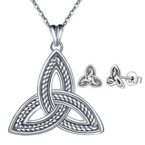 2PC Triquetra Earrings & Necklace Set
