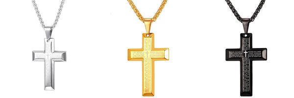 Our Daily Bread Gold-Plated Stainless Steel Cross Pendant