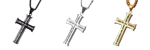 Empowering Plated Stainless Steel Cross Necklace
