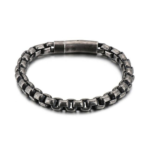 Plated Stainless Steel Curve Motorcycle Chain Bracelet
