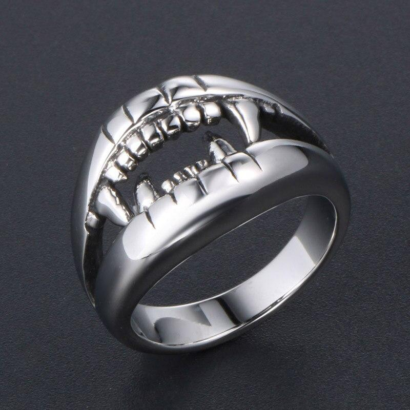 Shark Big Mouth Teeth Stainless Steel Rings