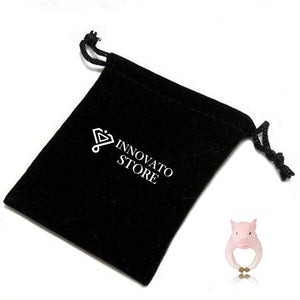 Lovely and Trendy 3D Finger Animal Figure Cute Pink Baby Pig Comfortable Ring for Women