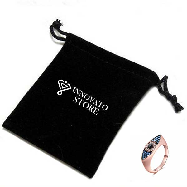 Valentine's Day Austrian Crystal Evil Eye Ring for Women