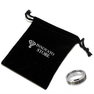 Silver Coated Tungsten carbide Metal with Camo Forest Design Inlay Wedding Ring