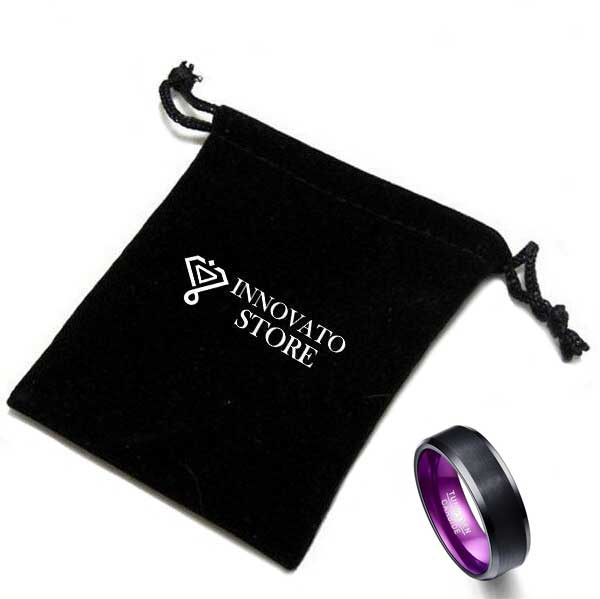 8mm Elegant Flat Purple Ring For Men - Innovato Store