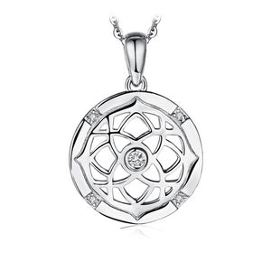 925 Sterling Silver Celtics Knot with Cubic Zirconia Pendant Necklace