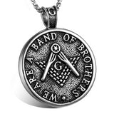 """We Are A Band Of Brothers"""" Freemason Pendant Necklace"