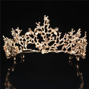 Gold Renaissance Style Tiara Crown for Wedding or Prom