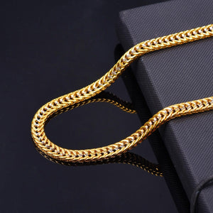Two Tone Gold and Silver Vintage Chain Necklace for Men
