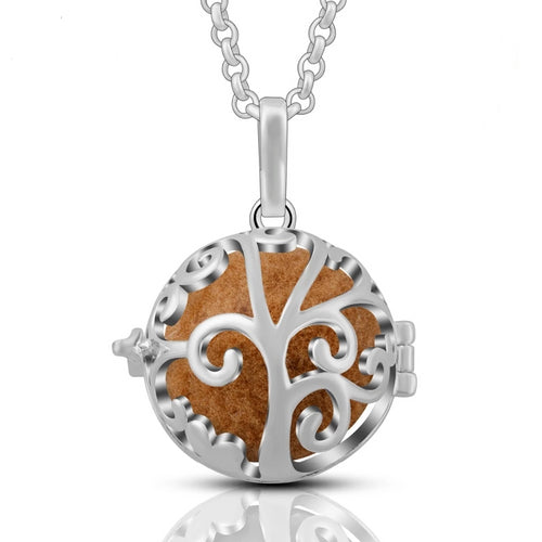 Tree of Life Aromatherapy Locket Pendant Necklace