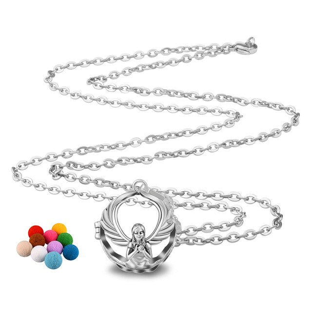 Angel Cage Colorful Chime Ball Pendant Necklace