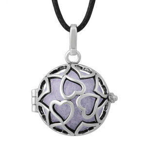 Silver Hearts Aromatherapy Diffuser Locket Pendant Necklace