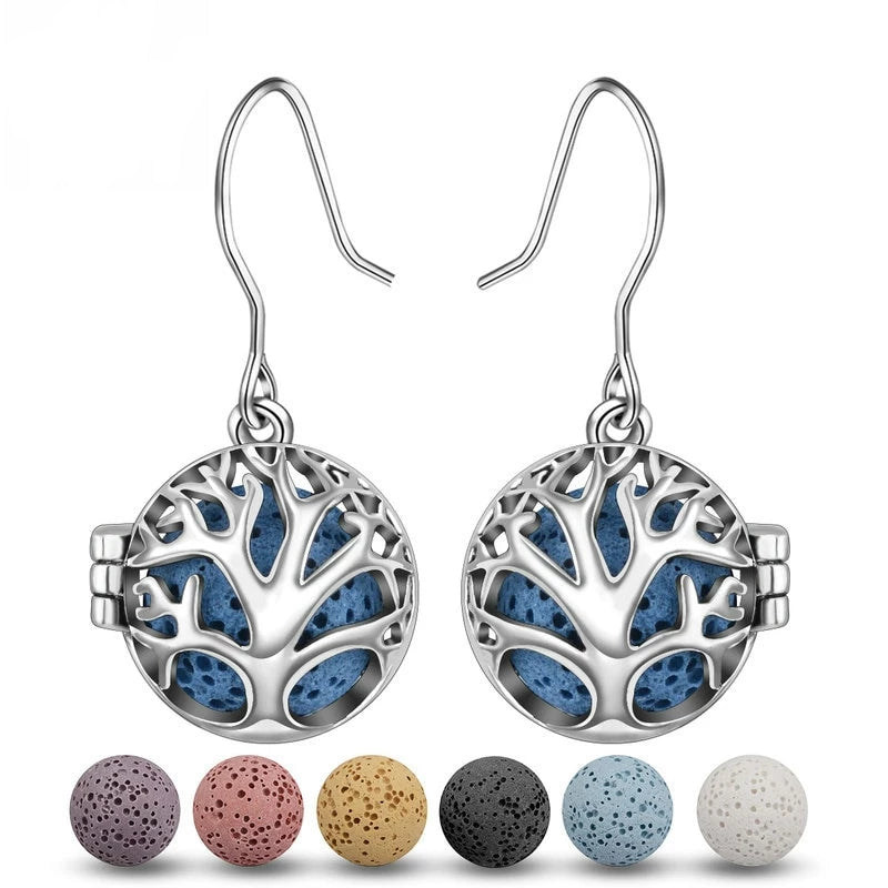 Tree of Life Aromatherapy Dangle Earrings