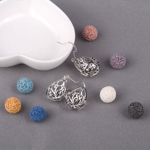 Silver Water Drop Essential Oil Diffuser Dangling Earring