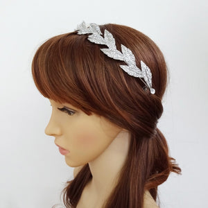 Silver Laurel Wreath Tiara Headband for Wedding or Prom